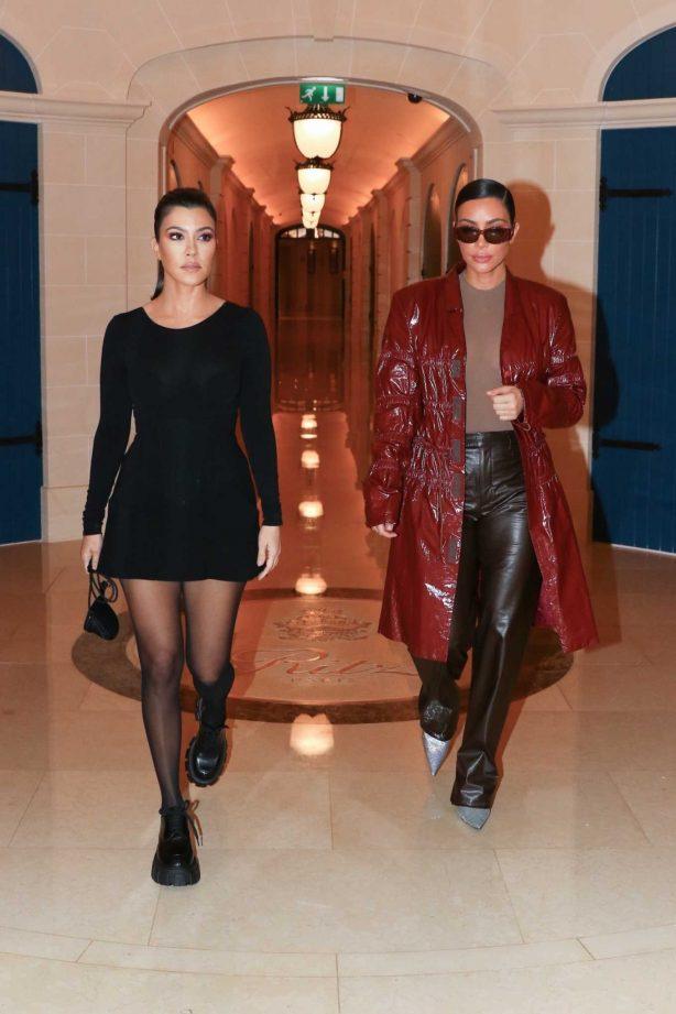 Kim Kardashian and Kourtney Kardashian - Head out looking fashionable in Paris