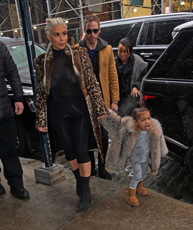 Kim Kardashian and North West out in New York -20