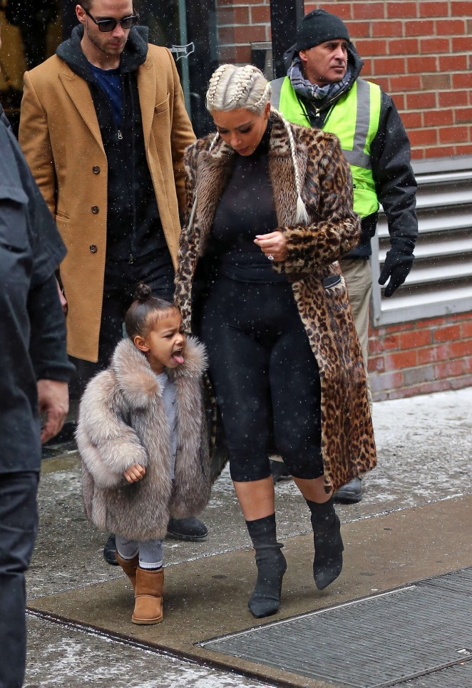 Kim Kardashian and North West out in New York -23