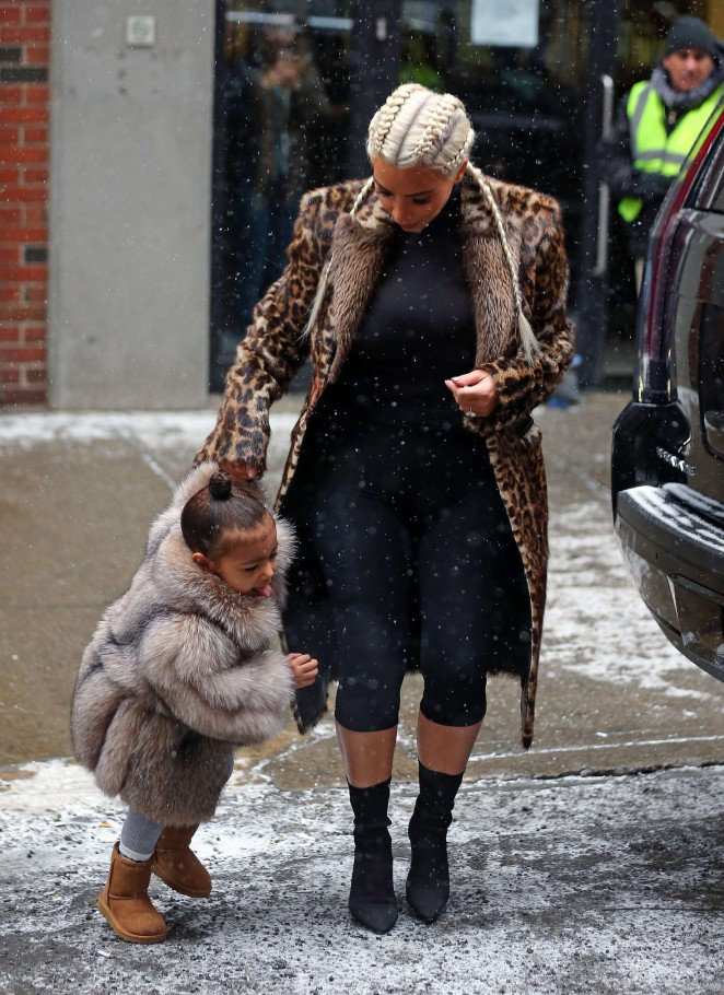 Kim Kardashian and North West out in New York -25