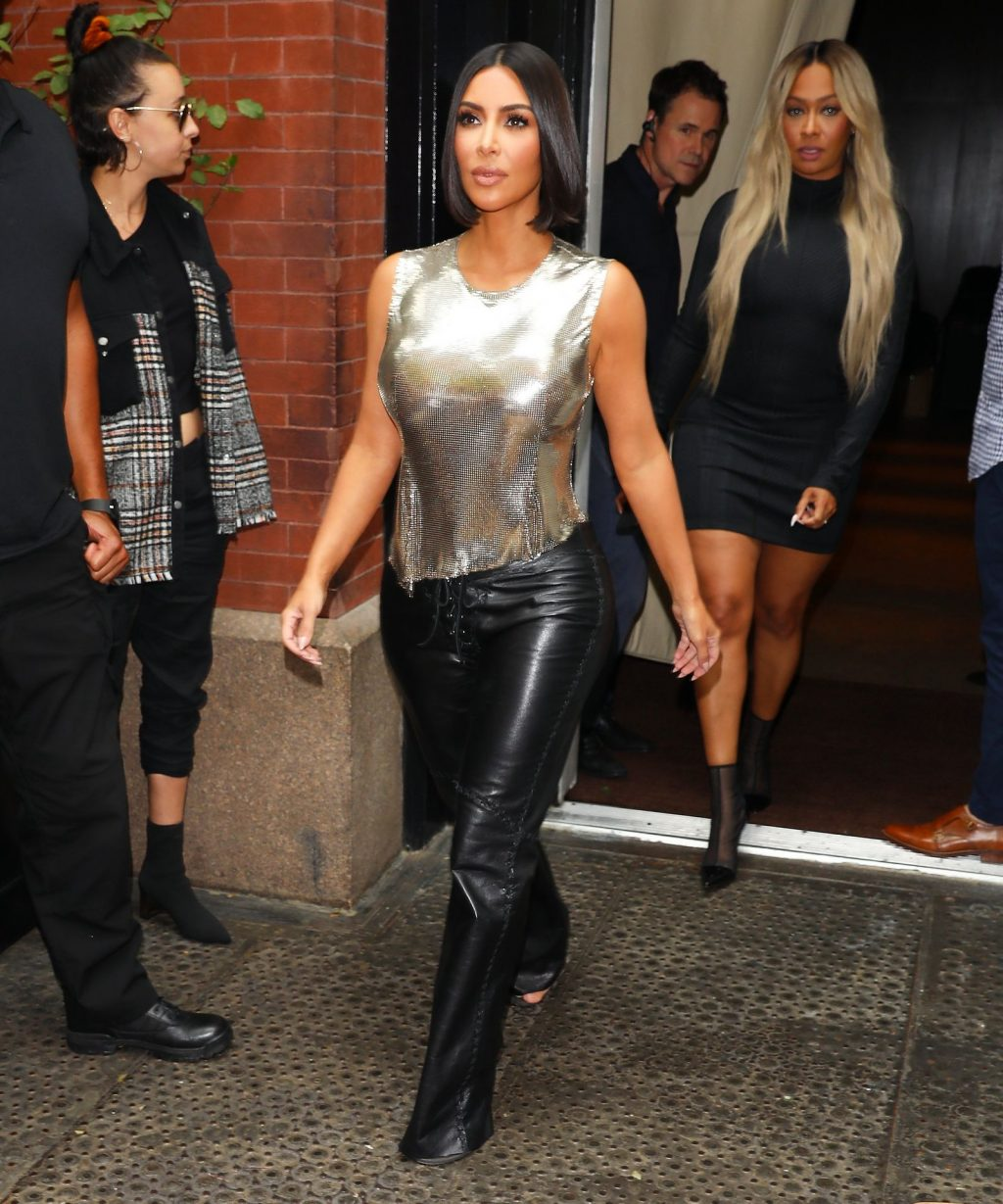 Kim Kardashian arrives at a fashion show in New York during New York Fashion Week 2019-52