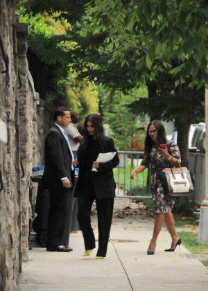 Kim Kardashian - Arrives at Ivanka Trump Home in Washington