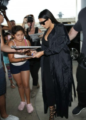 Kim Kardashian: Arrives at Los Angeles International Airport -11