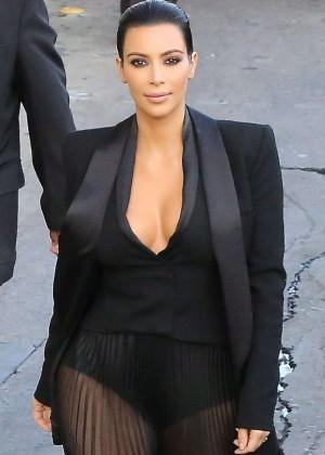 Kim Kardashian - Arriving at 'Jimmy Kimmel Live!' in Hollywood