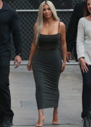 Kim Kardashian - Arriving at Jimmy Kimmel Live! in LA