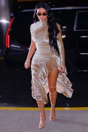 Kim Kardashian - Arriving at Kanye West Christmas Orchestra in NYC