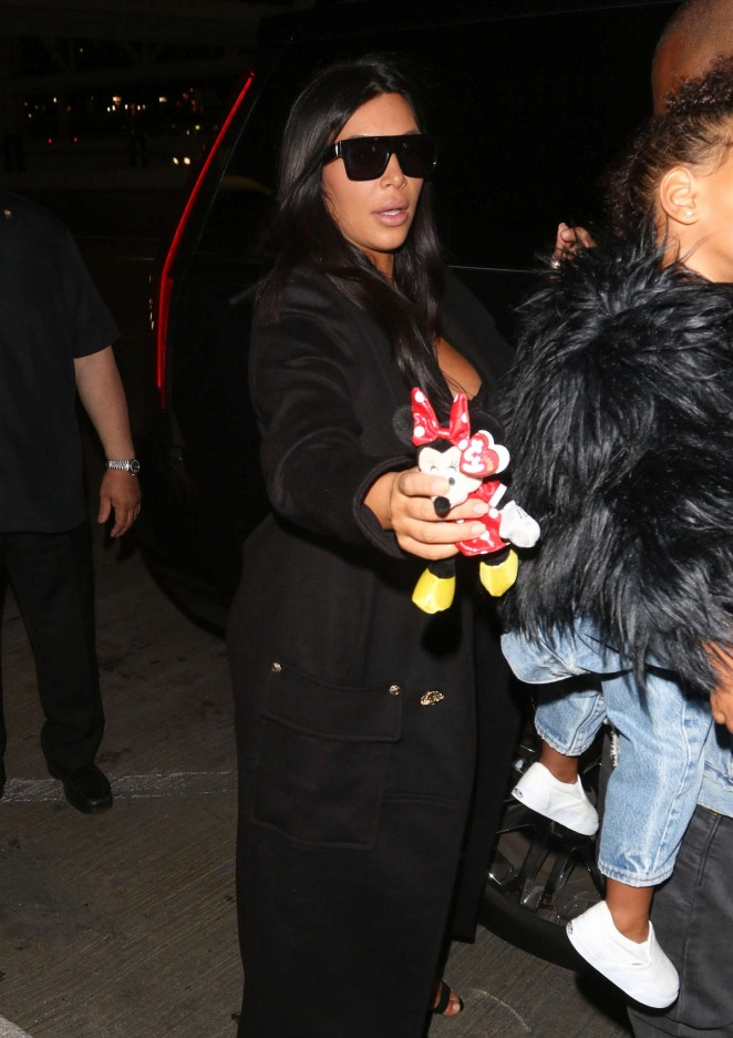 Kim Kardashian - Arriving at LAX Aiport in LA