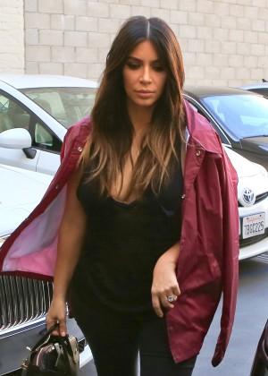 Kim Kardashian at a Salon in Beverly Hills