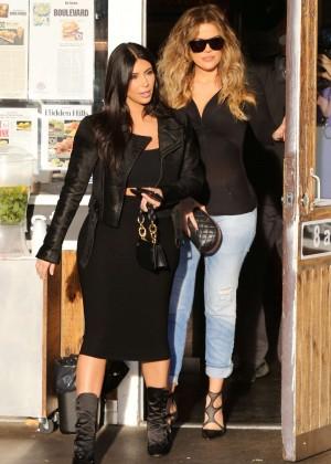 Kim Kardashian in Black Tight Skirt -28