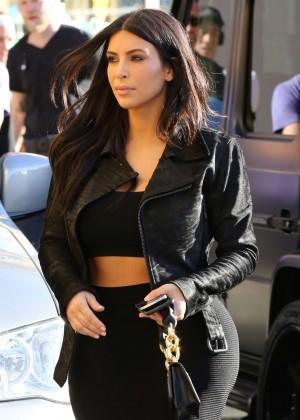 Kim Kardashian in Black Tight Skirt -29