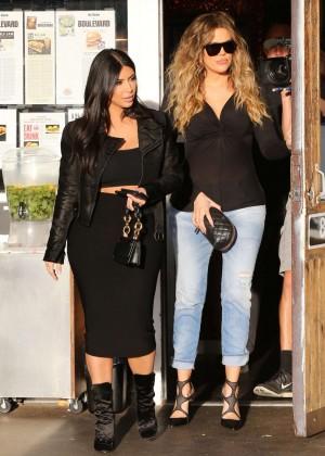 Kim Kardashian in Black Tight Skirt -30