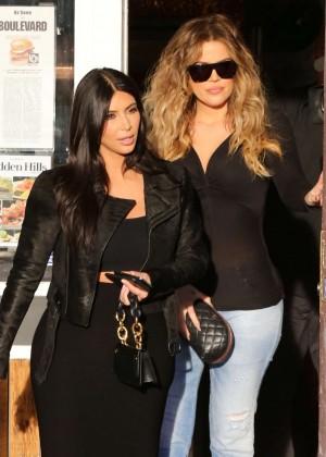 Kim Kardashian in Black Tight Skirt -31