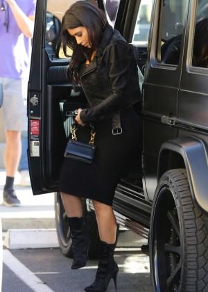 Kim Kardashian in Black Tight Skirt -39