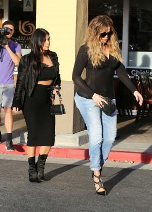 Kim Kardashian in Black Tight Skirt -42