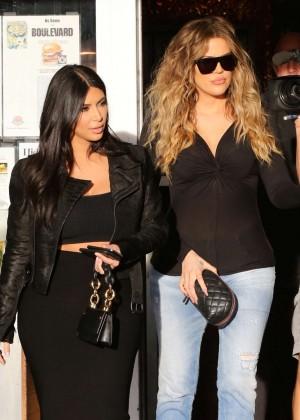 Kim Kardashian in Black Tight Skirt -48