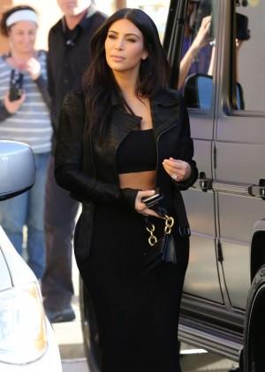 Kim Kardashian in Black Tight Skirt -50