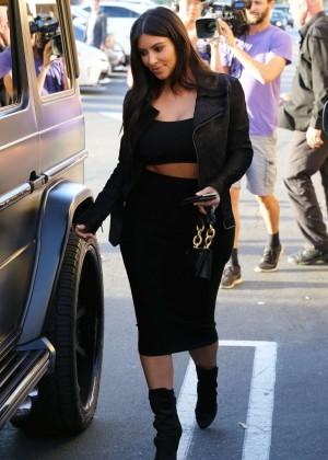 Kim Kardashian in Black Tight Skirt -53