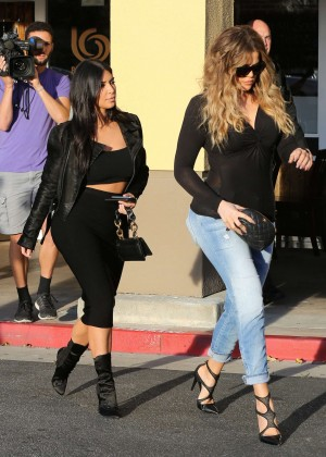 Kim Kardashian in Black Tight Skirt -54