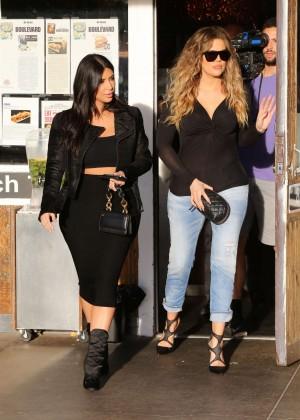 Kim Kardashian in Black Tight Skirt -61