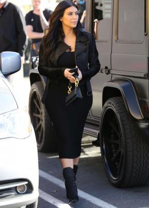 Kim Kardashian in Black Tight Skirt -62