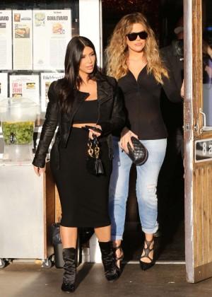 Kim Kardashian in Black Tight Skirt -65