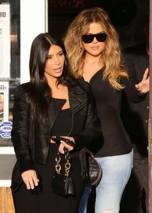 Kim Kardashian in Black Tight Skirt -68