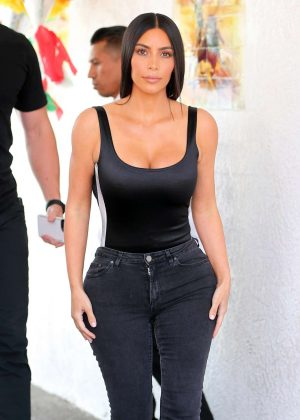 Kim Kardashian at Casa Vega in Los Angeles