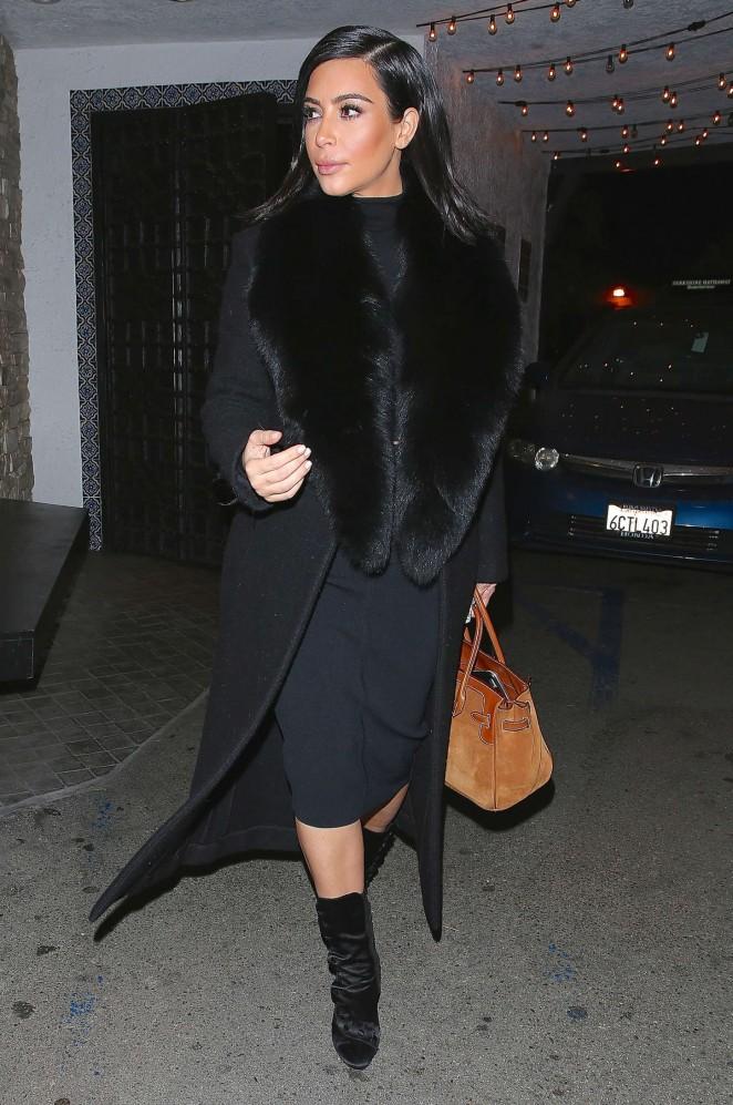 Kim Kardashian at Casa Vega Restaurant in Sherman Oaks