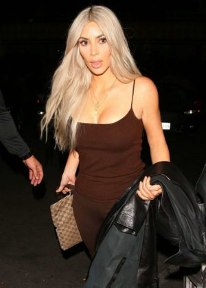 Kim Kardashian at Dave Chappelle's Pop Up Gig in West Hollywood