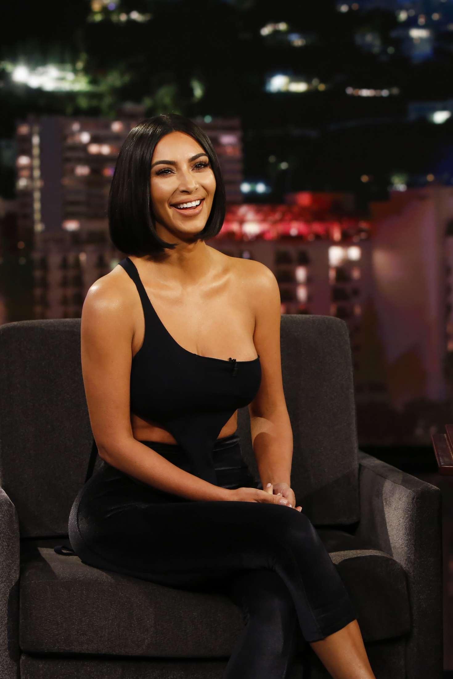 Kim Kardashian at Jimmy Kimmel Live! in Los Angeles
