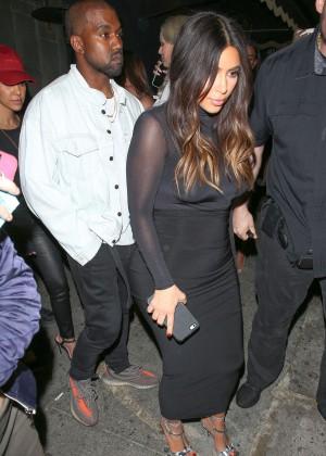 Kim Kardashian at Justin Bieber's Purpose World Tour in Los Angeles