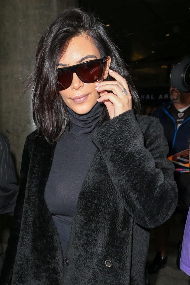 Kim Kardashian at LAX airport in Los Angeles