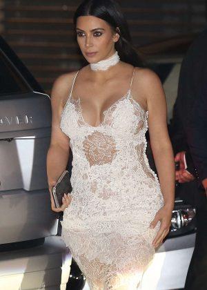 Kim Kardashian at Nobu in Malibu