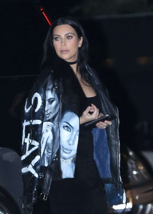 Kim Kardashian at Nobu Restaurant in Malibu