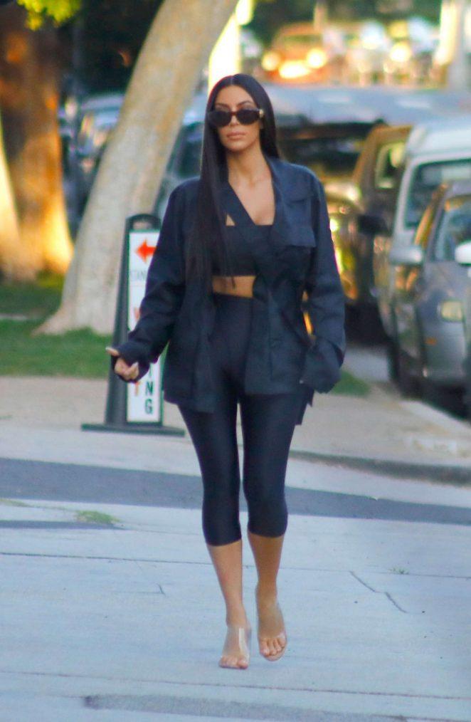 Kim Kardashian at Stanley's restaurant in Los Angeles