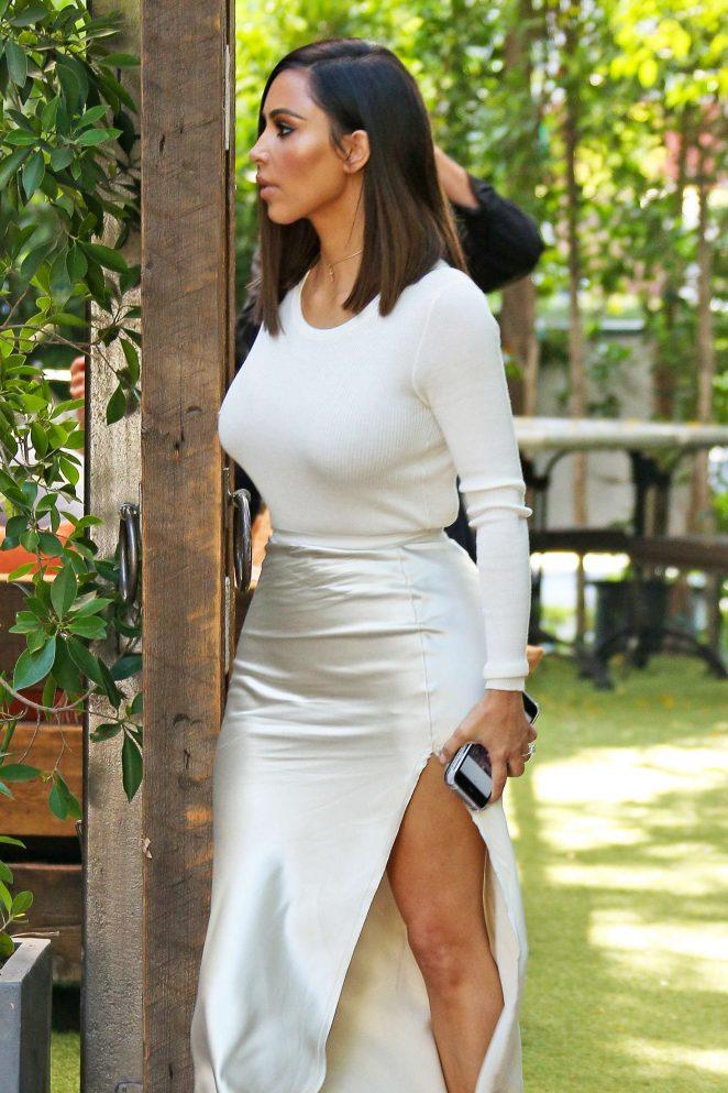 Kim Kardashian at The Villa Restaurant of Woodland Hills