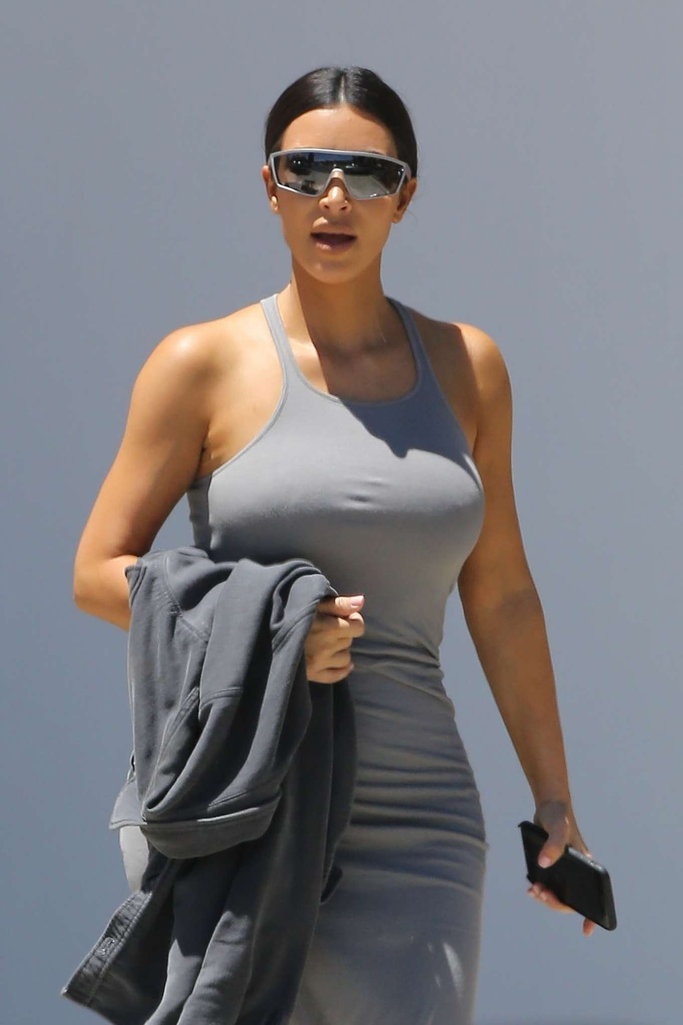 Kim Kardashian - Attends church services in Los Angeles