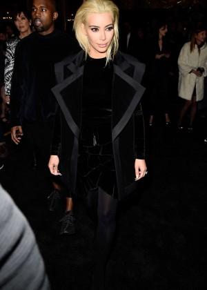 Kim Kardashian - Balmain Fashion Show 2015 in Paris