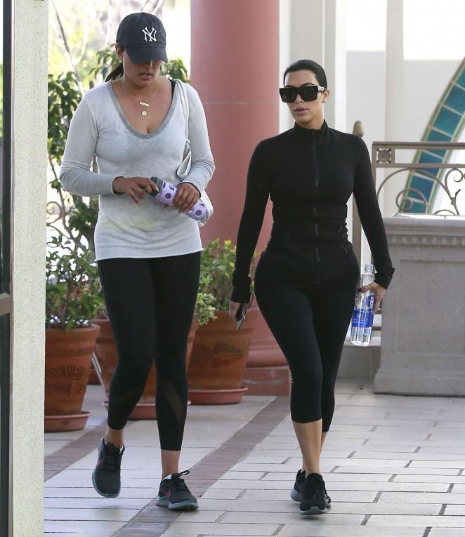 Kim Kardashian in Tights -09