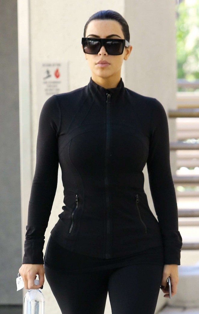 Kim Kardashian in Tights -19