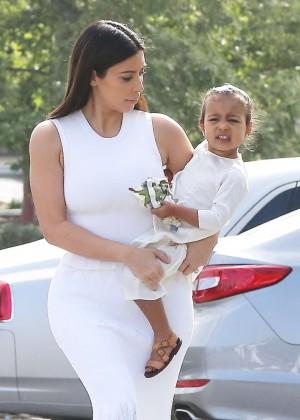 Kim Kardashian - Church in Agoura Hills