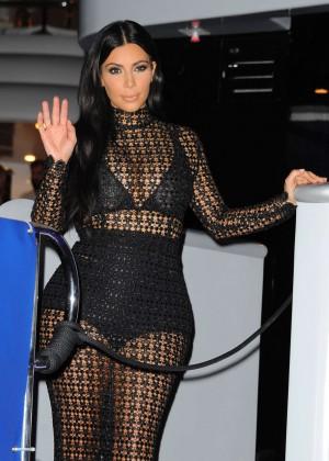 Kim Kardashian - DailyMail.com Yacht Party in Cannes