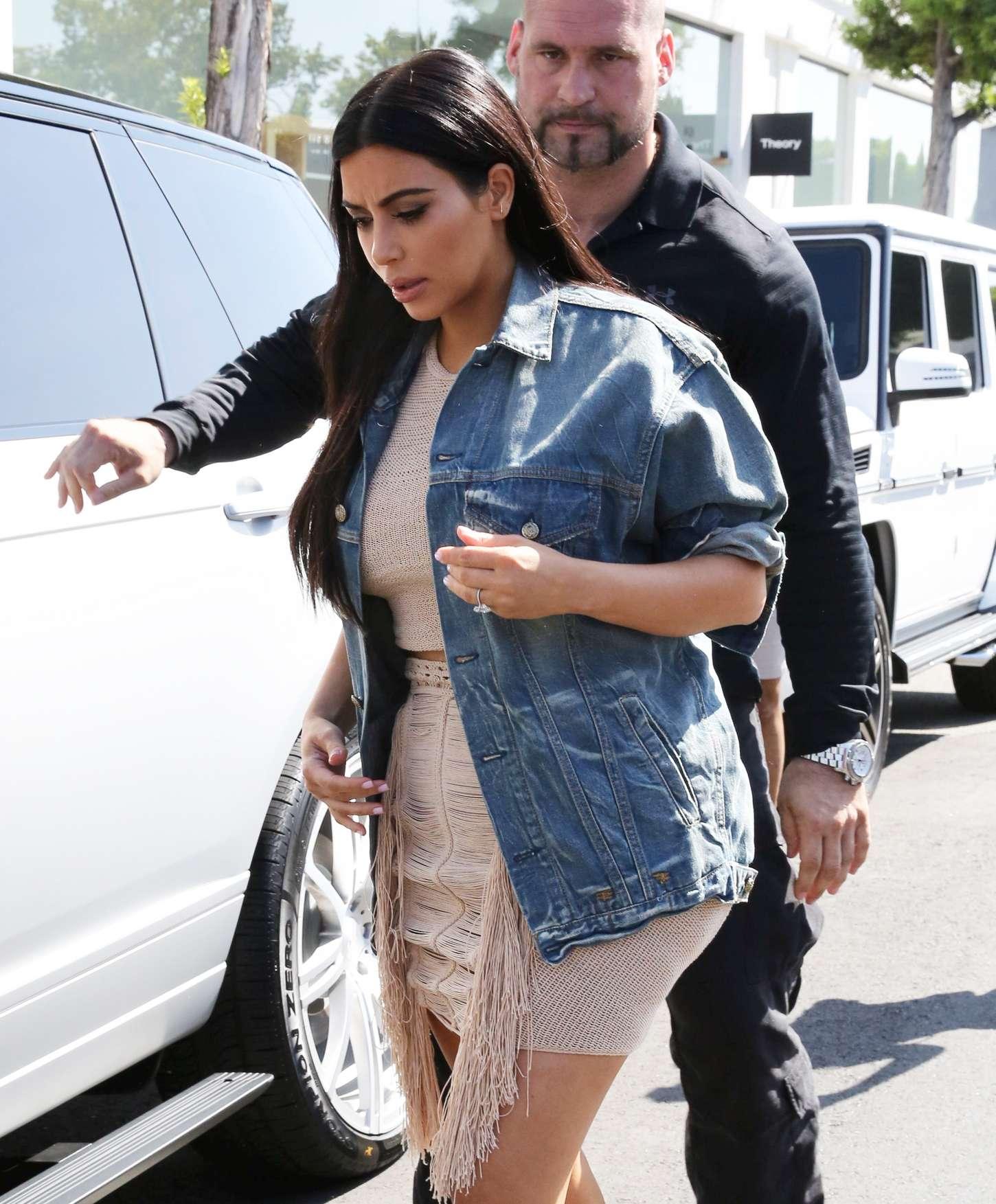 Kim Kardashian 2015 : Kim Kardashian in Short Dress -04