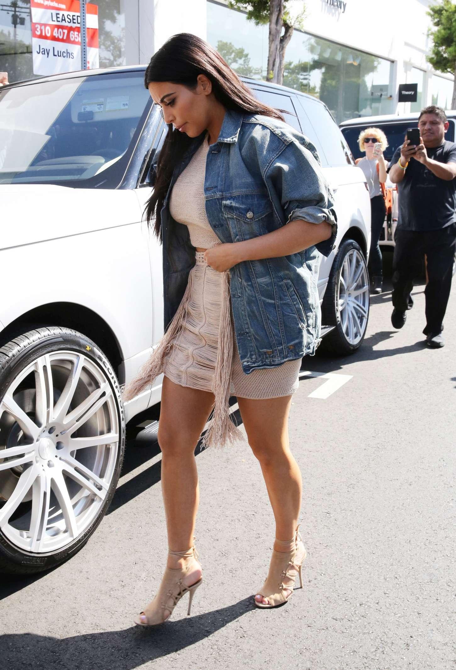 Kim Kardashian 2015 : Kim Kardashian in Short Dress -08