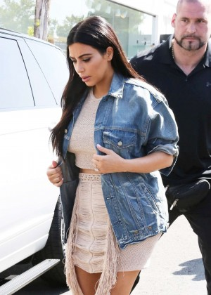 Kim Kardashian in Short Dress at DASH Store in LA
