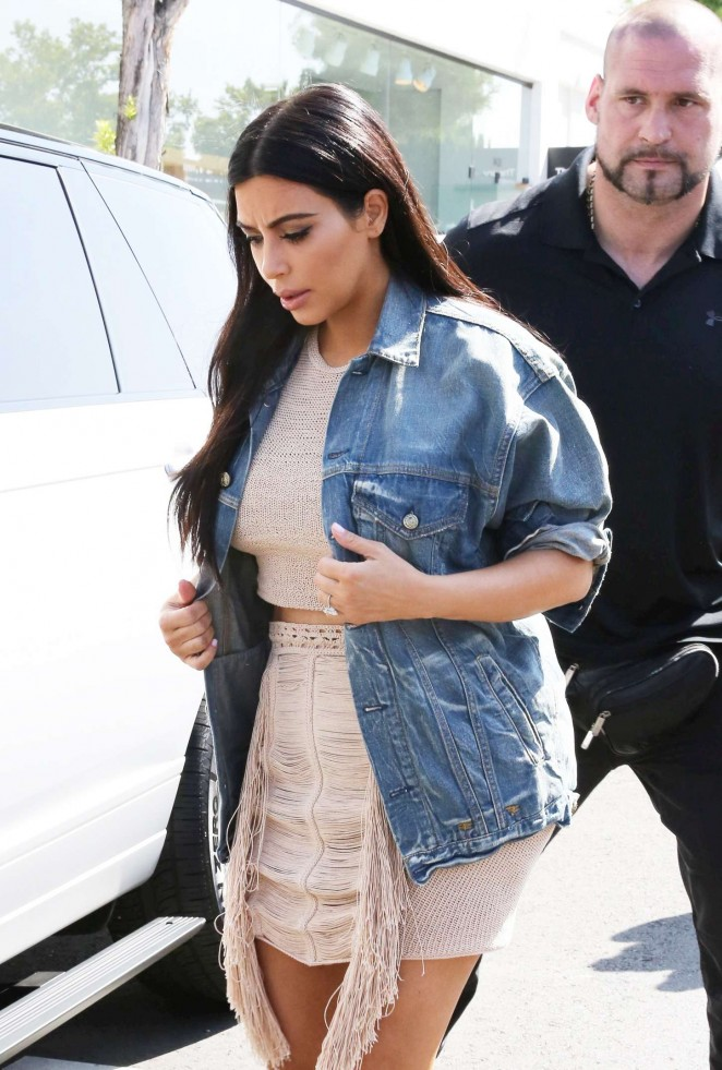 Kim Kardashian in Short Dress at DASH Store in LA
