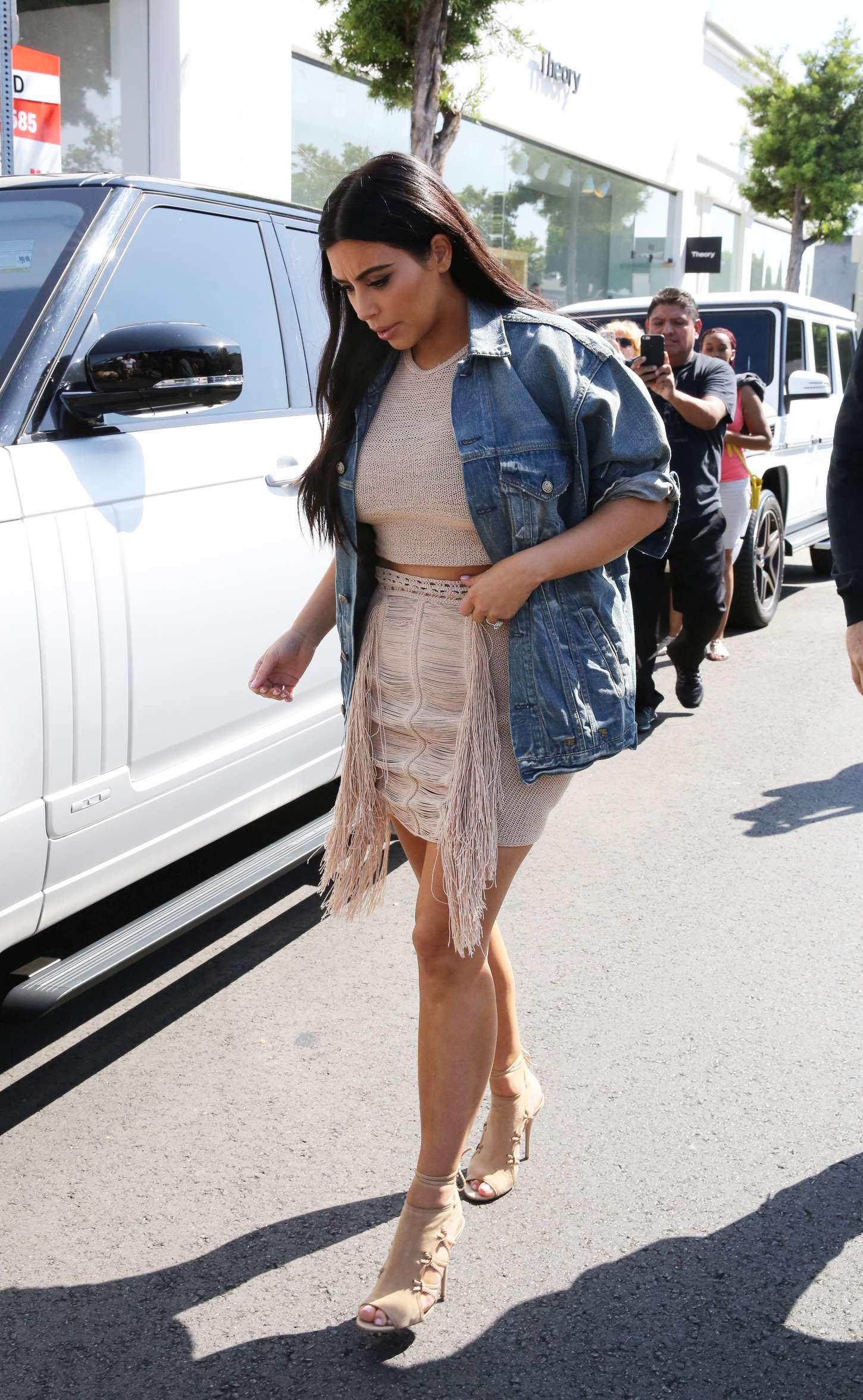 Kim Kardashian 2015 : Kim Kardashian in Short Dress -15