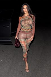 Kim Kardashian - Heading To Travis Scott's Birthday Party in LA