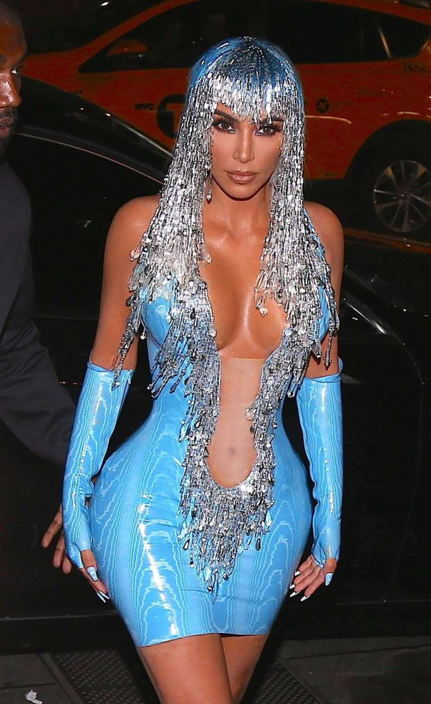 Kim Kardashian - Heads to the Met Gala After Party in NYC