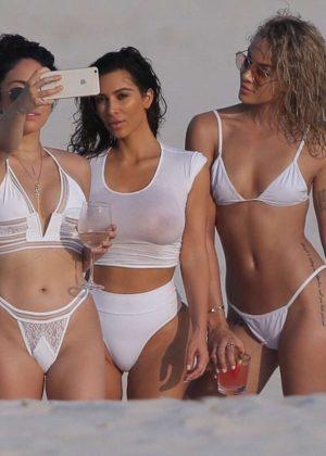 Kim Kardashian: In a Bikini on beach in Mexico-03